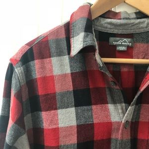 Eddie Bauer Flannel Lumberjack Button Front Shirt